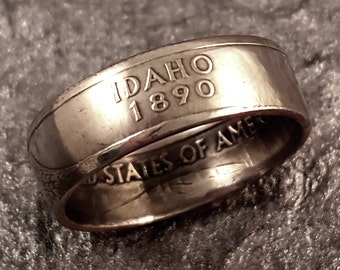 Idaho Coin Ring Your Size 5 to 10.5 State Quarter MR0705-TSTID