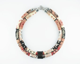 Seed Bead Necklace / Statement Necklace / Ethnic Jewelry