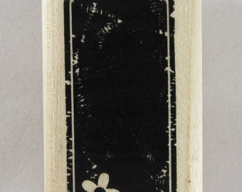 Stampin Up! - Tag Stamp with Flower Rubber Stamp #RS248