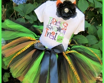 24mos, Ready to Ship, Trick or Treat, Party Outfit, Tutu Set, Halloween, Trick or Treat, Theme Parties