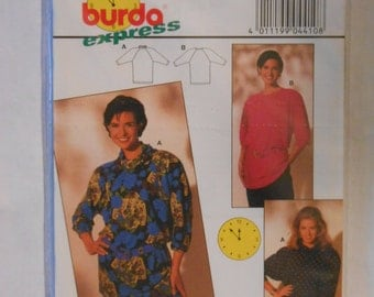 Misses Loose Fitting Tunic Sewing Pattern Burda 4410 Size 8 10 12 14 16 18 Bust 34 36 38 40 42 44 UNCUT