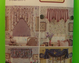 1994 Butterick Pattern 3785 Easy To Do Pattern, At Home With Waverly Valance And Shade