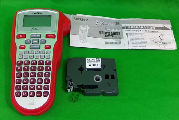 red brother pt 1010 p touch label maker thermal printer. Black Bedroom Furniture Sets. Home Design Ideas