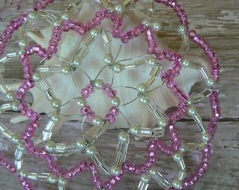 Bat Mitzvah Pink Kippah - Yarmulke for Young Lady - Temple Head Covering - Hot Pink Kippah.