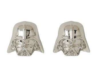 Darth Vader Sterling Studs - Darth Vader Sterling Silver Studs - Star Wars Sterling Silver Studs - Custom order for Paul Peterson