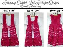 VEST -Short or Long Vest, Shrugs, Child-Toddler, Preteen -CROCHET PATTERN, Teen, Adult 4XL Plus size, Easy Pattern,  Women's clothing ,#813