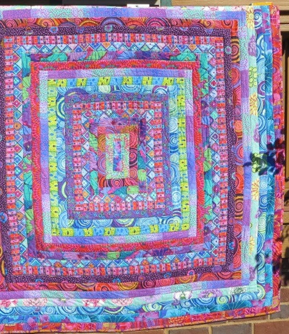 Trip Around The World In Color Quilt Made With Kaffe By