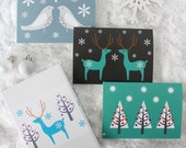 Scandi Christmas cards Set of Nine