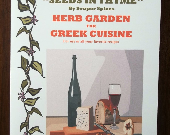 NEW! Herb Garden for Greek Cuisine Kit! Grow You Own Herbs & Spices. Comes with Complete Directions! Great Gift for all occasions!