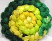 Organic Polwarth/Bombyx 80/20 Roving Combed Top 5oz - Orion Cloud Nebula 2- OoaK