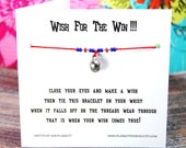 Wish For The Win!!! - Wish Bracelet With Small 3D Baseball Charm - Custom Made In Your Team Colors!!!