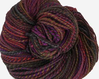 ON SALE! -Handspun yarn, 2 ply, 'Out On The Town', 196 yds., targhee wool