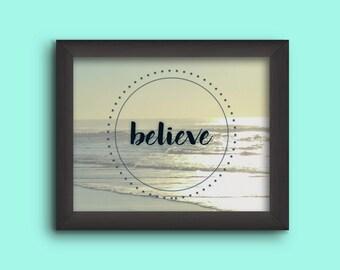 """11x14 Wall Gallery Art""""Believe"""" - Digital Download"""