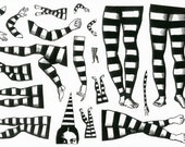 MOUNTED Rubber Stamp Set Z107 - Famous Leg Set