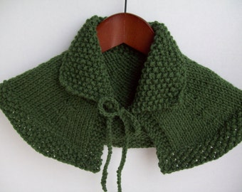 Claire Outlander Capelet Shawl Hand Knit