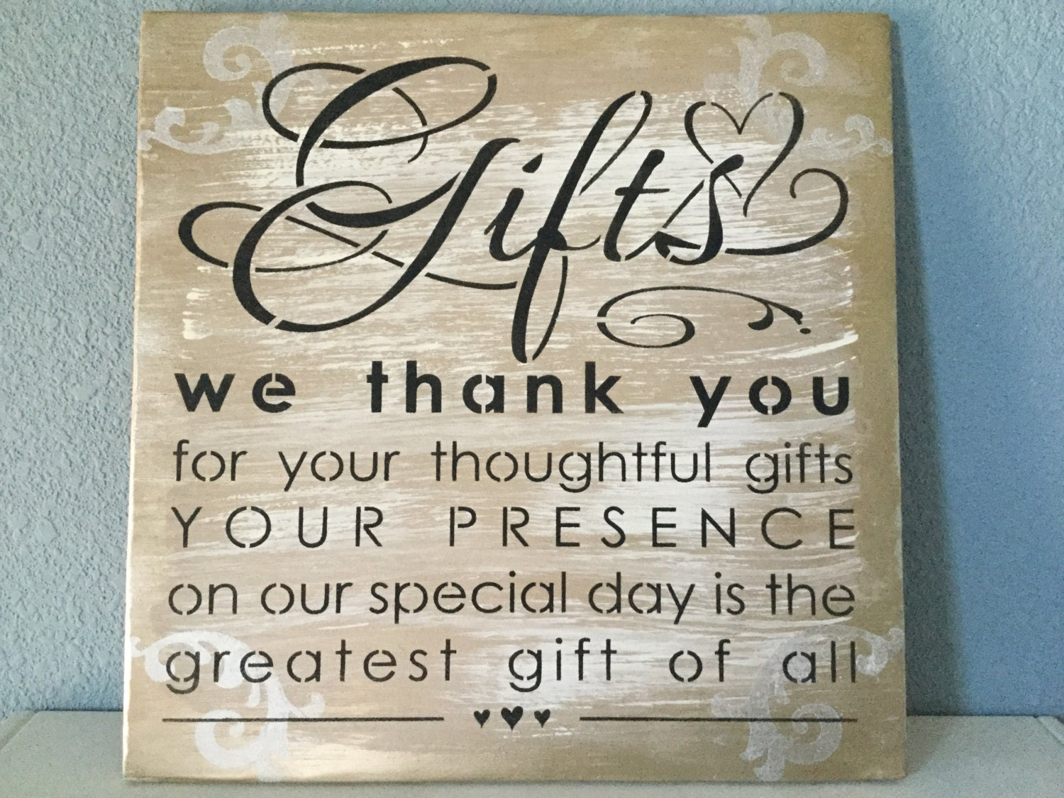 Wedding Gift Signs: Wedding Gift Table Sign Wedding Decor Gold Gift Table Sign
