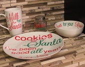 Santa Cookies and Milk Set. Order NOW before its too late!