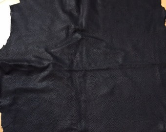 A gorgeous black textured lambskin - a 5 square foot hide