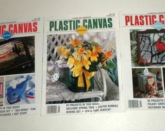 3 Vintage Issues Plastic Canvas Corner Magazine - 1992 Issues - January, May, July Issues - Plastic Canvas Patterns - PC Pattern Books