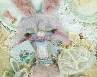 jiajiadoll - Pink Bunny Wonderland Full set 8 pieces for Momoko or Misaki or Blythe imda