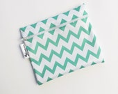 XL Mint Chevron Reusable Baggie