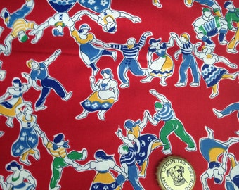 Vintage red quilting cotton  1 yard