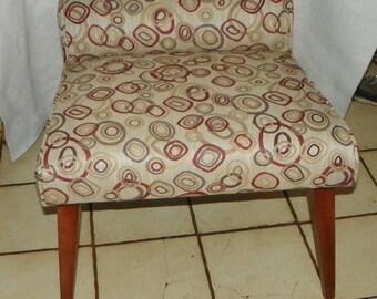 Mid Century Cherry Vanity Bench