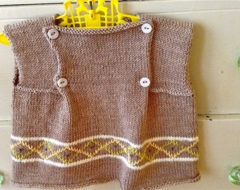 Baby Sweater/Newborn-12 months sweater/Hand Knit/Knit Baby Sweater/Hand Made Wool Baby Sweater/Hand Knit Newborn/Hand knit Debby Ware/Knit