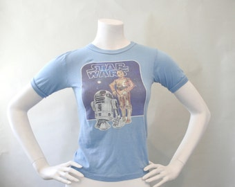 Authentic 1977 Vintage STAR WARS T-Shirt Xs