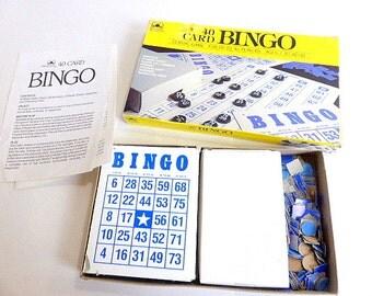 Vintage Golden Bingo Game with Bingo Cards, Bingo Call Numbers, Bingo Markers Bingo Ephemera Repurpose Bingo Pieces Repurpose Bingo Cards