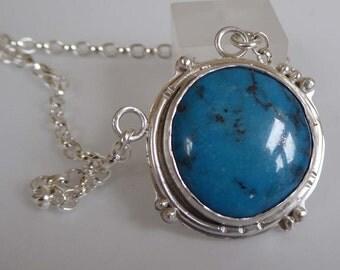 Nacozari Turquoise silver pendant