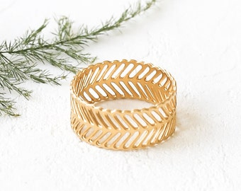 Jane Ring, Minimalistic Ring, Slotted Ring, Gold Plated Ring, Silver Plated Ring, Wide Ring, Stacking Ring, Gold Plated Band, Silver Band