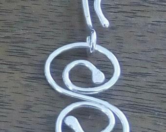 Sterling Silver S Swirl Link Chain Bracelet