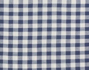 Black and white gingham Cotton, 43 inches wide, Sold by the yard, Quilting, Blouse, shirt, dress