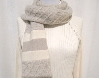 Oatmeal Cashmere Scarf / Winter Scarf / Oatmeal Scarf / Oatmeal Neck Warmer No845