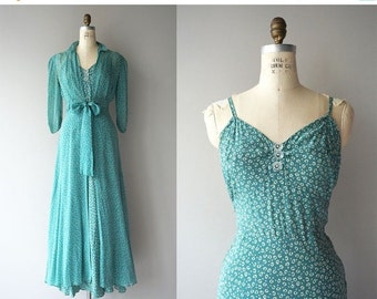 25% OFF.... Riddle Me This dress | vintage 1930s dress | silk 30s dress and jacket