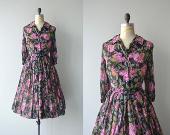 Florilège dress | vintage 50s floral dress | cotton floral 50s dress