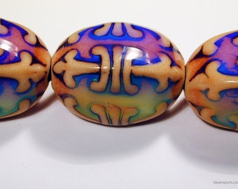 Strand of 10 Fleur-de-Lis Color-Changing Mirage Beads