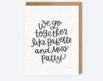 Friendship Gilmore Girls Card - Babette and Miss Patty - AZ349