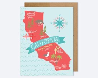 State Map California Card AZ601