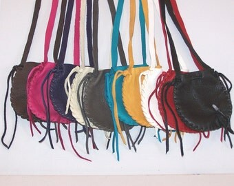 SUMMER SPECIAL... XL All Leather Neck Pouch....Lot of 12...Assorted Colors...Smooth