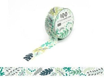Masking Tape / Washi Tape / Deco Tape - 15mm - Leaves