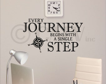Every Journey Begins With A Single Step vinyl lettering wall decal self adhesive sticker quote