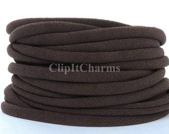 Wholesale .39+ Brown Stretch Nylon Chokers...Use for bottle cap jewelry,pendants,charms, headbands/doubles as a bracelet or anklet....