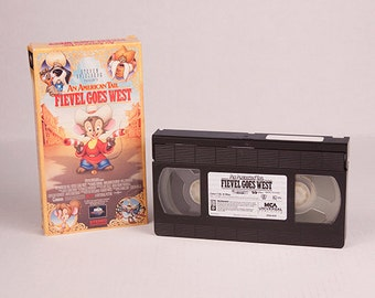 An American Tail Fievel Goes West VHS Cartoon Steven Spielberg 1991 Universal Pictures Fievel Mousekewitz Tanya Tiger Wylie Burp John Cleese