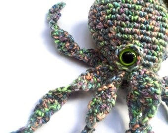 Technicolor Octopus Plushie - Crochet Stuffed Animal Octopus Plush Amigurumi