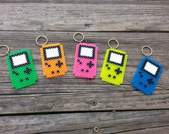 Retro Gameboy Console Keychain // video game keychain // video game gift // pixel sprite art // stocking stuffer // video game party favor
