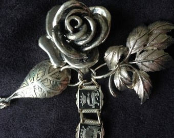 SALE Vintage Rose necklace assemblage romantic  gothic lolita gypsy boho goth style  statement necklace coupon code RGCSALE