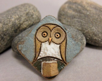 MyLand - Owl The France - Collectible 3x3 cm or 1.2x1.2 in. puzzle in stoneware