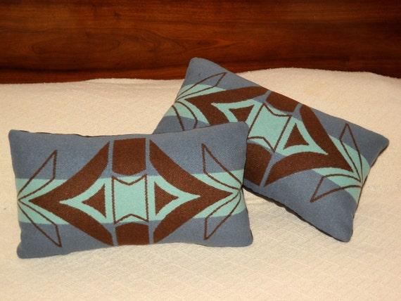 Wool Decorative Pillow / Accent Pillow / Neck Pillow 16 x 8